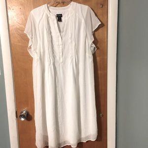 Soho white shirt chiffon midi dress